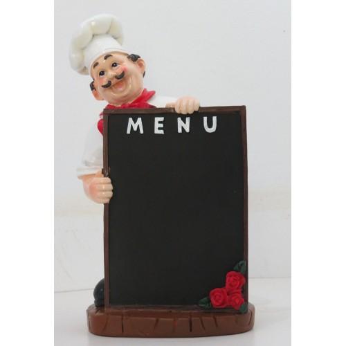 Chefe com o quadro menu