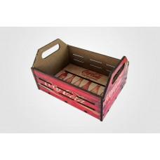 """Caixa Organizadora """"Porta Trecos"""" em MDF Médio - Coca-Cola"""