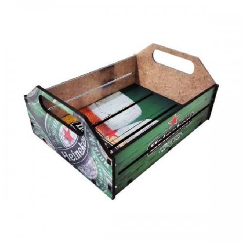 """Caixa Organizadora """"Porta Trecos"""" em MDF Médio - Heineken"""