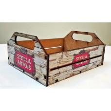 """Caixa Organizadora """"Porta Trecos"""" em MDF Médio - Stella Artois"""